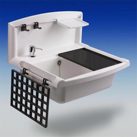 ausgussbecken abu multiset kunststoff mit r ckwand und. Black Bedroom Furniture Sets. Home Design Ideas