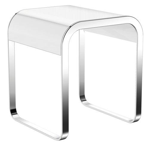 badezimmerhocker system 800 hewi verchromt sitzfl che weiss. Black Bedroom Furniture Sets. Home Design Ideas