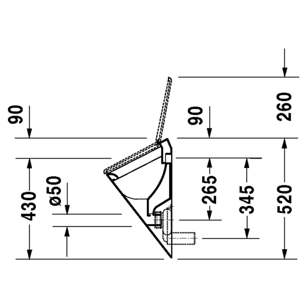 duravit absauge urinal starck 1 wei ohne deckel. Black Bedroom Furniture Sets. Home Design Ideas