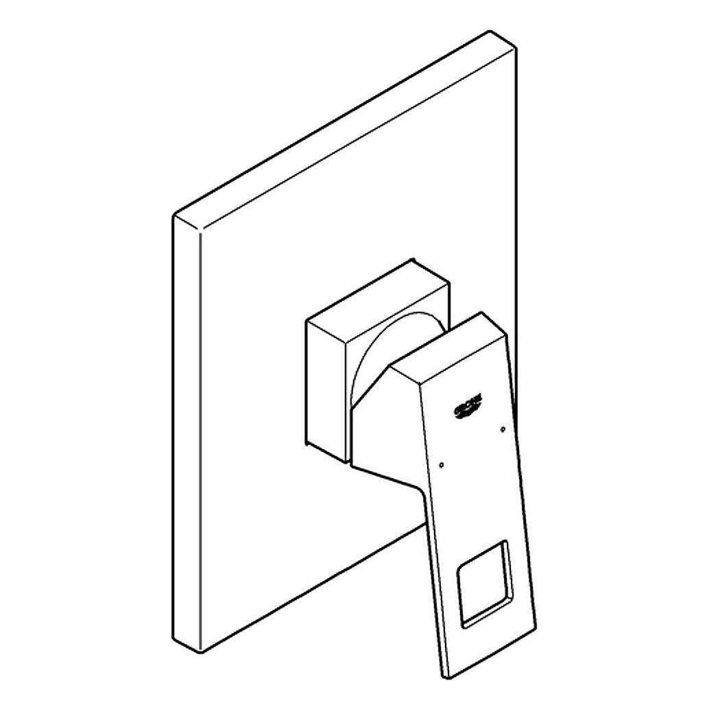 grohe eurocube fertigmontageset f r up brausebatterie. Black Bedroom Furniture Sets. Home Design Ideas