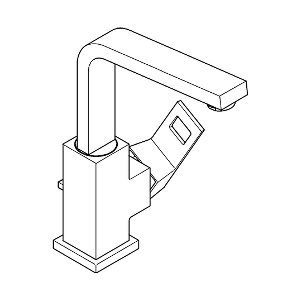 grohe eurocube waschtischbatterie 1 2. Black Bedroom Furniture Sets. Home Design Ideas