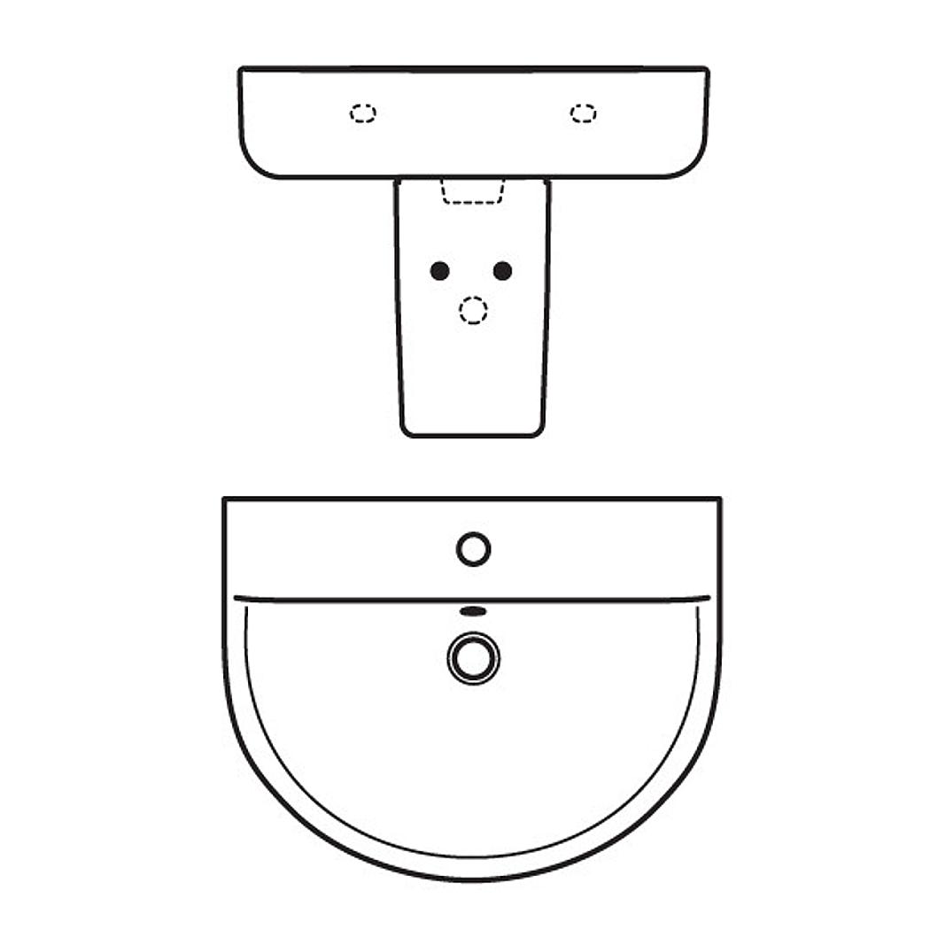 ideal standard connect handwaschbecken arc wei. Black Bedroom Furniture Sets. Home Design Ideas