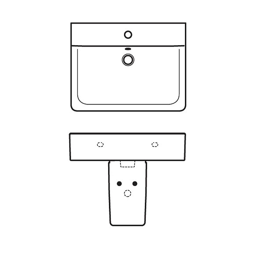 ideal standard connect handwaschbecken cube wei. Black Bedroom Furniture Sets. Home Design Ideas