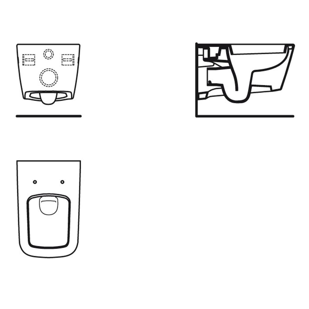 ideal standard strada wand tiefsp l wc mia 6 l wei ohne sitz. Black Bedroom Furniture Sets. Home Design Ideas