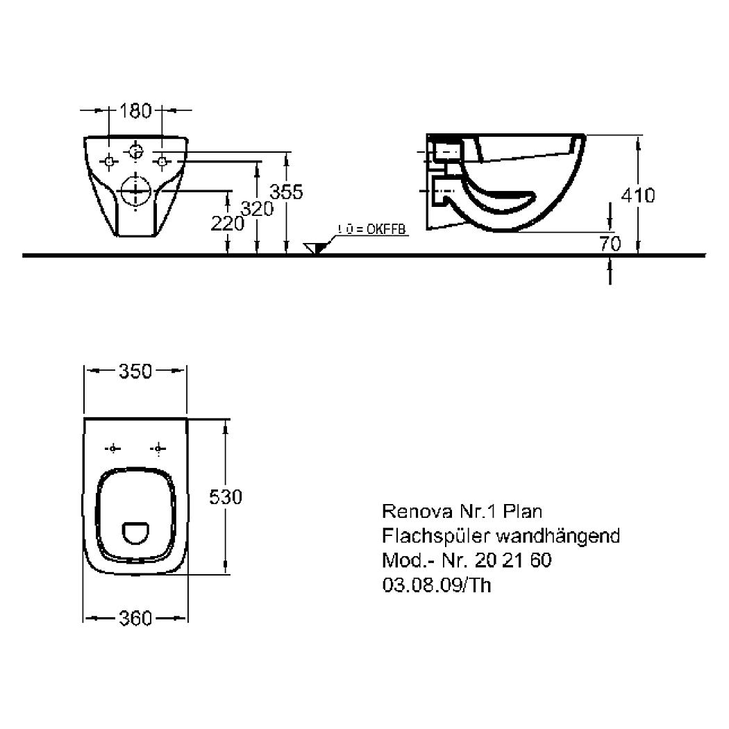 keramag renova nr 1 plan wand flachsp l wc 6 l wei ohne sitz. Black Bedroom Furniture Sets. Home Design Ideas