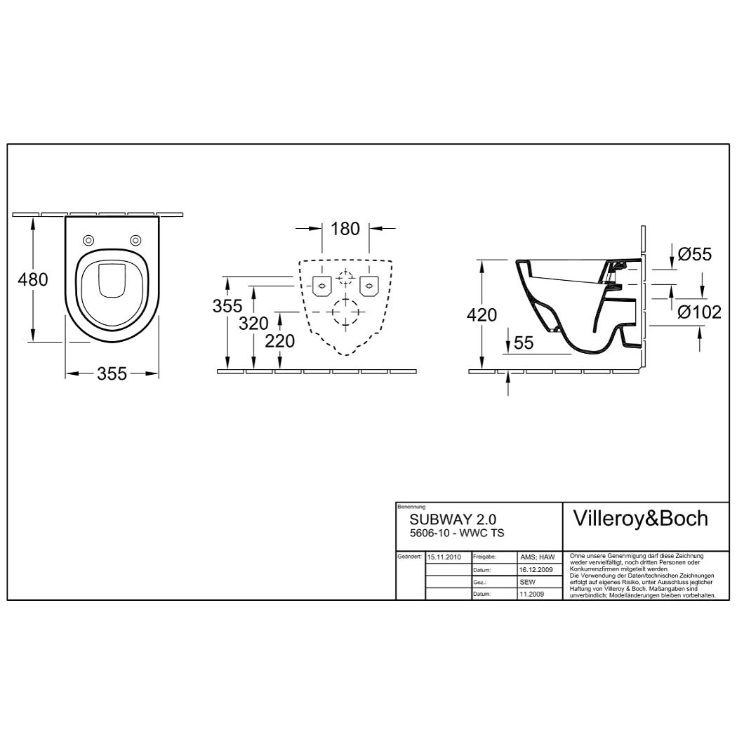 villeroy boch 2 0 wand tiefsp l wc 4 5 l compact wei ohne sitz. Black Bedroom Furniture Sets. Home Design Ideas