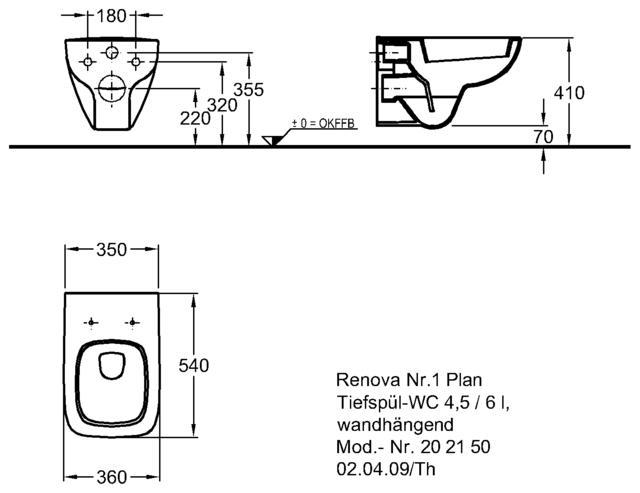 wand tiefsp l wc keramag renova nr 1 plan mit wc sitz mit absenkautomatik weiss tiefsp ler. Black Bedroom Furniture Sets. Home Design Ideas