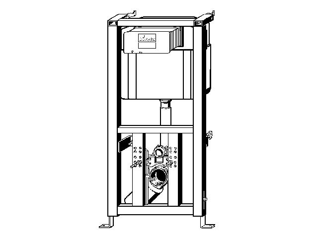 wand wc element viegaswift 1130 mm f r wandh ngendes wc bet tigung von vorne. Black Bedroom Furniture Sets. Home Design Ideas