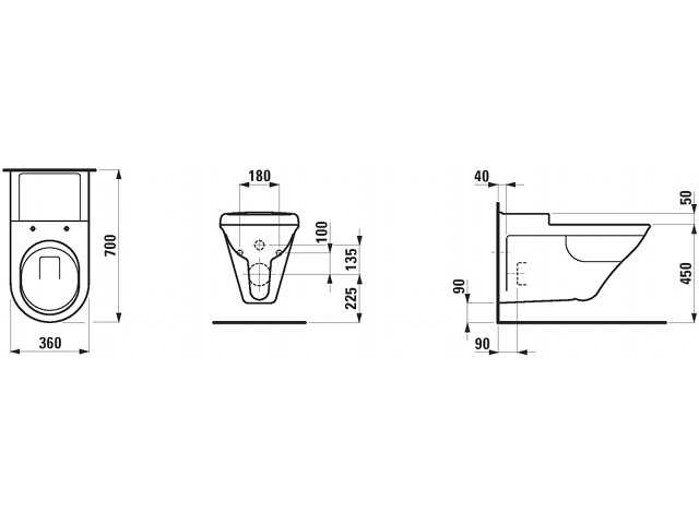 wandtiefsp l wc libertyline laufen weiss. Black Bedroom Furniture Sets. Home Design Ideas