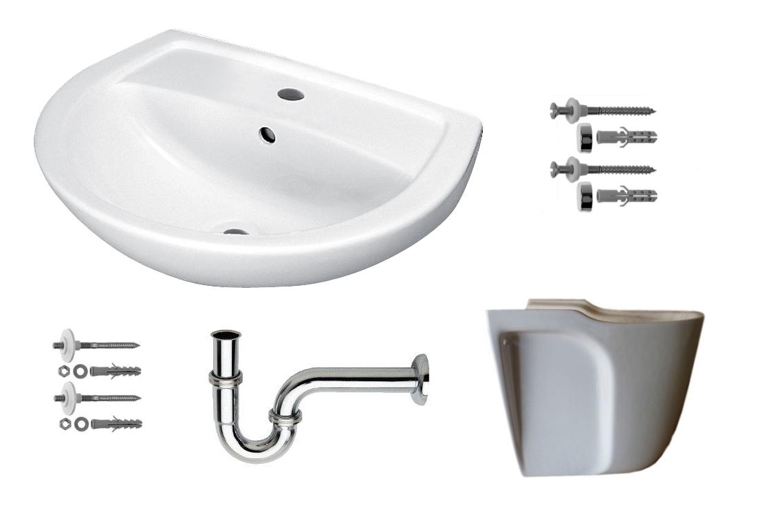 waschbecken set waschtisch keramag paris 65 x 49 cm mit. Black Bedroom Furniture Sets. Home Design Ideas