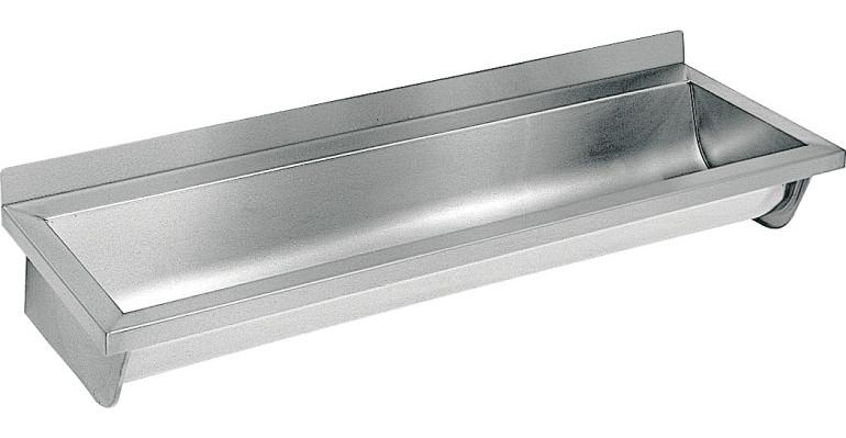 Waschrinne saturn franke 1800 mm ablauf rechts edelstahl matt for Waschbecken edelstahl