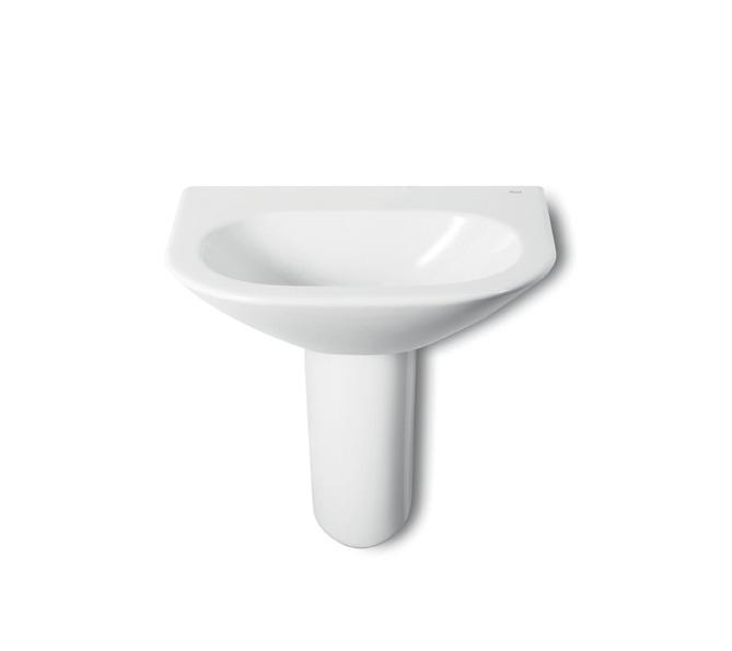 waschtisch nexo roca 55 x 44 cm ohne hahnloch ohne berlauf weiss. Black Bedroom Furniture Sets. Home Design Ideas
